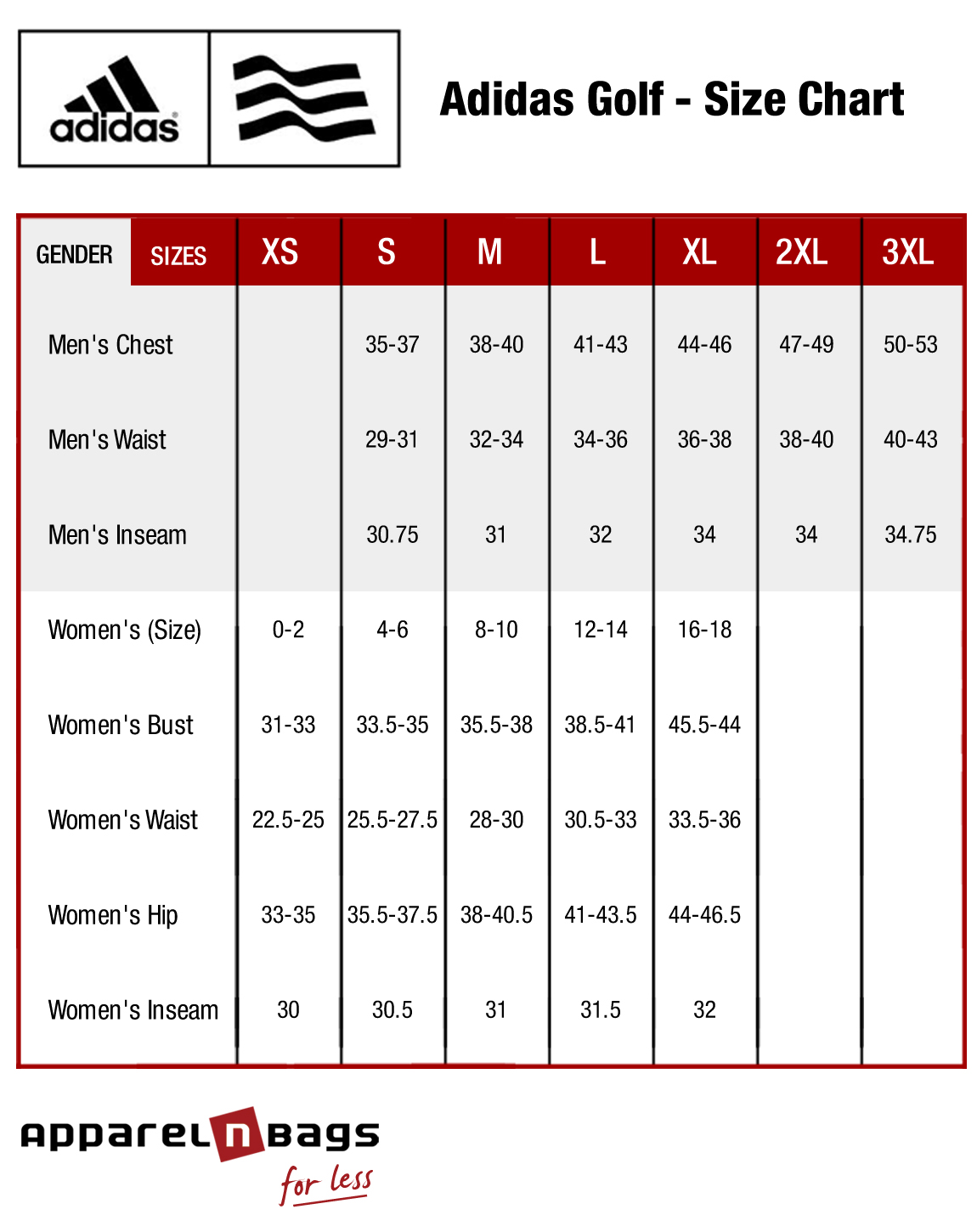 Us mens clothes sizes